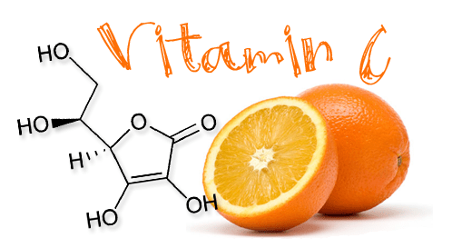 Разрезаный апельсин и химические формулы